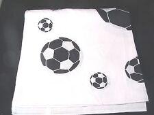 Unisex Head Band Bandanna Soccer Pattern White BLACK Flat Soccer Ball Futbol