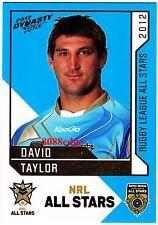 2012 SELECT DYNASTY NRL ALL STARS #AS34: DAVID TAYLOR - SOUTH SYDNEY RABBITOHS
