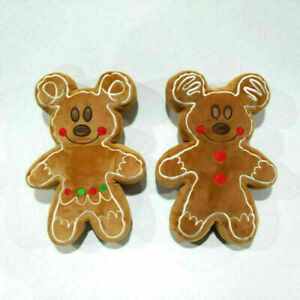 "Disney Gingerbread Man Mickey Plush Minnie Mouse Animal Toy 12.5"" Pillow 2022"