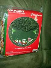 Bucilla Craft Kit - Round Felt Tree Skirt - Holiday Express - Sealed - Train