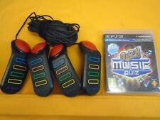ps3 *BUZZ The Ultimate Music Quiz* + Official BUZZERS Controllers Playstation