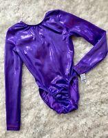 New GK ELITE Gymnastics LEOTARD Dance Skate COMPETITION Purple #094B Bodysuit AS