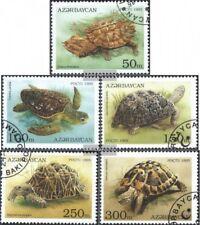 Aserbaidschan 223-227 (kompl.Ausg.) gestempelt 1995 Schildkröten