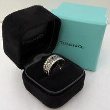 TIFFANY & Co. 18K White Gold Full Circle Diamond Atlas Ring 6 $6500