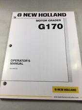 New Holland G170 Motor Grader Operators Manual