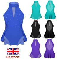 UK Girls Ballet Dance Dress Kid Modern Jazz Dance Costume Leotards Gym Dancewear