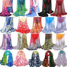 femmes souple long cou grand imprimé châle écharpe pashmina étole souple NEUF