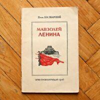 1946 Lenin's Mausoleum. B. Zbarsky. Stalin Propaganda Book Russian USSR SOVIET