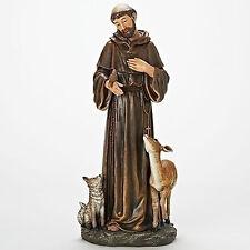 "Joseph's Studio Brown Robed 18""St. Francis w/ Deer Woodland Animals Statue 69898"