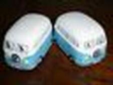 Light Blue VW Kombi Van Salt & Pepper Shaker Ceramic Collectable Volkswagen