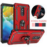 For LG Stylo 5 / 5 Plus Shockproof Magnetic Hybrid Ring Stand Hard Case Cover