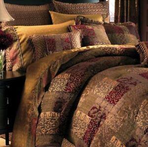 Croscill 4-pc Galleria Chenille Generously Oversized Queen Comforter Set Red