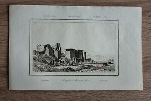 1839 print PROPYLAEA, MEDINET HABU, THEBES, UPPER EGYPT (#28)