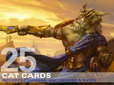25X Cat Cards (Includes Rares!) MTG Magic -25 Card Lot Collection Deck-