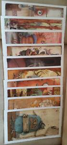 Bilder-Sammlung 6x METEO DINEEN / 4x JOHAN POTMA 24,5x43cm RARITÄT - Top-Zustand