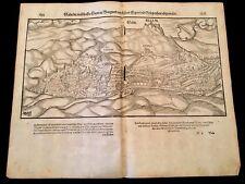 COSMOGRPHIA, SEBASTIAN MÜNSTER                       MAP OF GALLIN 1544