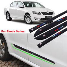 For Skoda 4pcs Body Anti Scratch Guard Protector Bumper Collision Avoidance