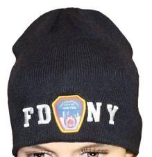 FDNY No Fold Winter Hat Beanie Skull Cap Officially Licensed Navy Blue Fire NY