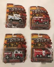 4 TONKA METAL DIE CAST EMERGENCY VEHICLES - FIRE /PUMPER/ SKYLIFT/ 1ST RESPONSE