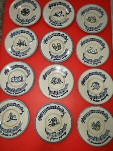 Louisville Stoneware 12 Days Of Christmas Plates