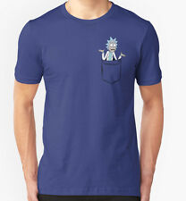 Rick and Morty T-shirt Men's Women's Rick Pocket New Cotton Tee S-3XL