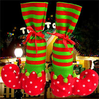 Hot Xmas Elf Boot Shoes Stocking Christmas Tree Decoration Hanging Candy GiftJHV