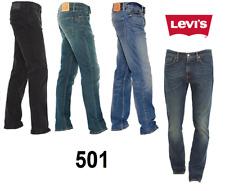 Genuine LEVIS 501 Original Fit Mens Denim Jeans LEVI Blue Black