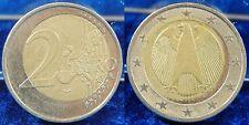 Fehlprägung 2 Euro 2002 J Deutschland Innenteil schief ausgestanzt und eingesetz