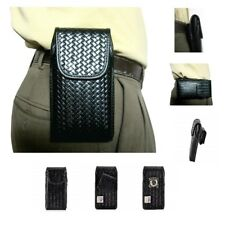 IPhone XR 6.1 For Police Leather Holster Pouch Basketweave Rugged Vertical Case