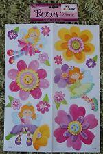 Flower Fairy Wall Stickers Decals Stickarounds Kids Girls Bedroom Furniture