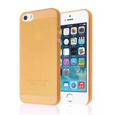 Étuis, housses et coques orange transparent en silicone, caoutchouc, gel pour téléphone mobile et assistant personnel (PDA)