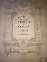Méthode complète de clarinette par H. Klosé revue par L. Grisez