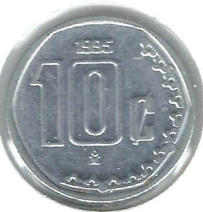 1995 Mexico Uncirculated Ten Centavo Coin