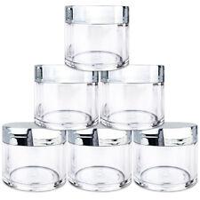 Beauticom® (6 PCS) 30G/30ML High Quality Clear Plastic Jars with Silver Lids
