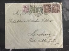1920 Kartuzy Poland Cover to Hamburg Germany Stamps 95,100,135