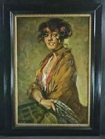 Retrato uno Señora Klaus Clausmeyer Listado Pintura al óleo Lienzo