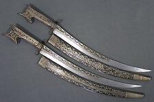 Antique pair of kabyle algerian flyssa (flissa nimcha) dagger - Dated 1860