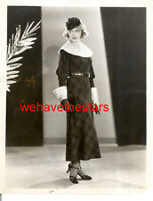 Vintage Patricia Ellis ORRY-KELLY FASHION DESIGN '33 WB Publicity Portrait