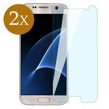 2x Display Schutz Glas für Samsung Galaxy S7 Panzerfolie 9H Cover Protector KLAR