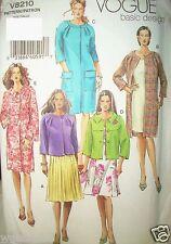 Vogue Pattern 8210 Basic Design Jackets Waist Knee Length UNCUT Size 20-22-24