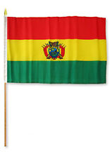"12x18 12""x18""  Bolivia Stick Flag wood staff"