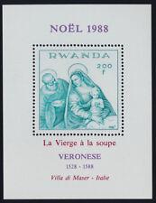 "Rwanda 1319 MNH Christmas, Art, ""The Virgin & the Soup"", Paolo Veronese"