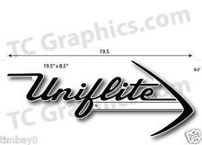 "Uniflite boat Laser cut PlasticRepro 1/8""thick 19.5"" x 8.5"" White & Black"
