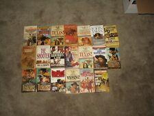VINTAGE LOT OF 20 WESTERN PAPERBACK NOVELS BOOKS