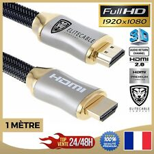 Cable HDMI 1m 2.0 60Hz Professionnel 1080P 3D Full HD 18GB/S