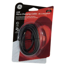 General Electric 6-FT Micro USB Charging Cable - 6ft (1.8m), Black (14070)
