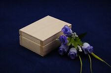 Small Plain Wooden Jewellery Gift Box Suede Perfect For Decoupage