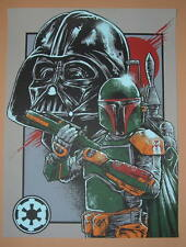 Godmachine Boba Fett Darth Vader Star Wars Poster Print Empire Strikes Back