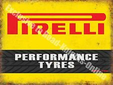 Performance Tyres Motorsport Motor Racing Vintage Garage Small Metal/Tin Sign