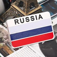3D Aluminium Russia Flag Square Shield Shape Decal Emblem Sticker For Auto Car